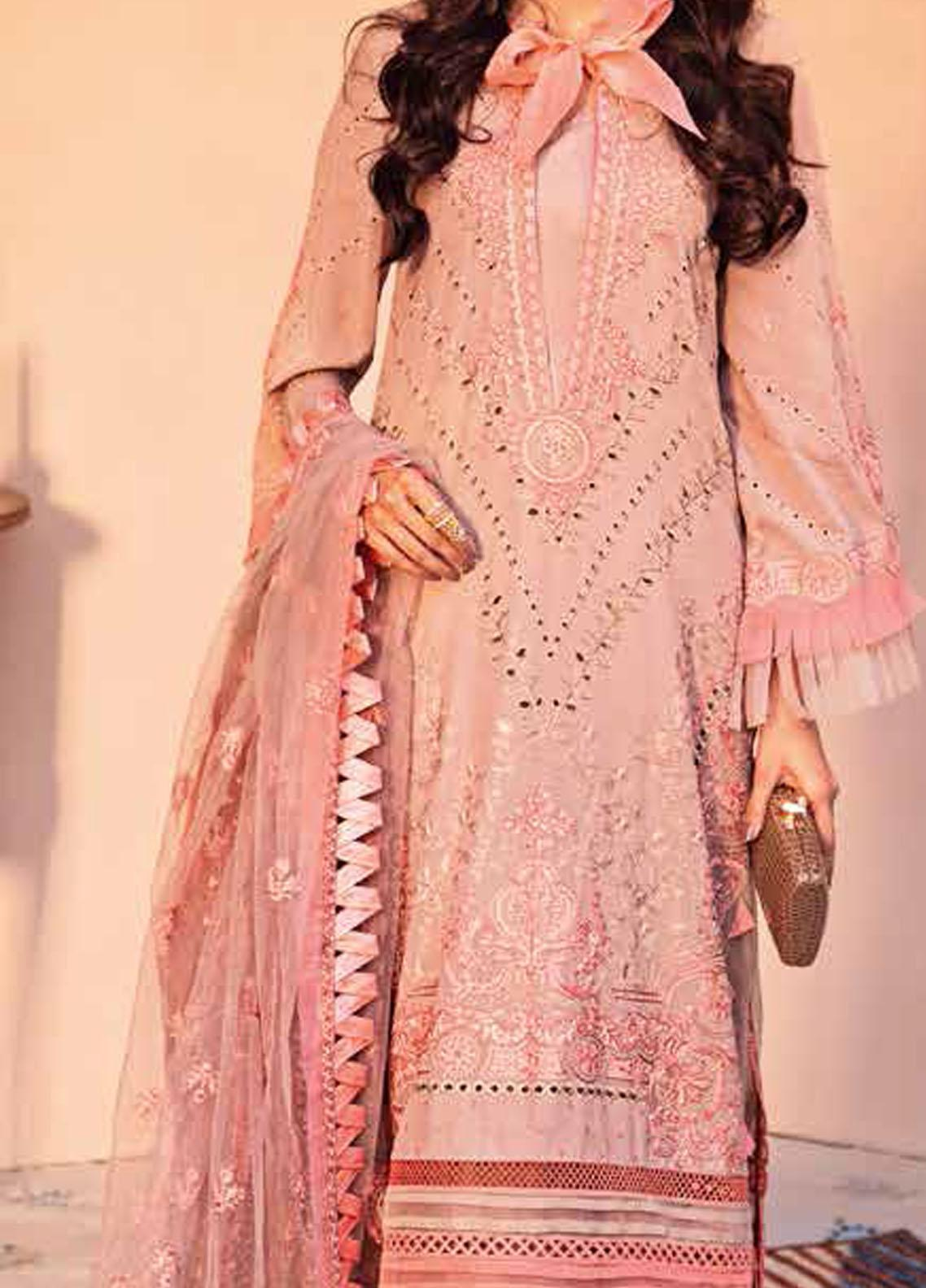 Gul Ahmed Embroidered Swiss Voile Suits Unstitched 3 Piece GA21S LSV 48 - Summer Collection
