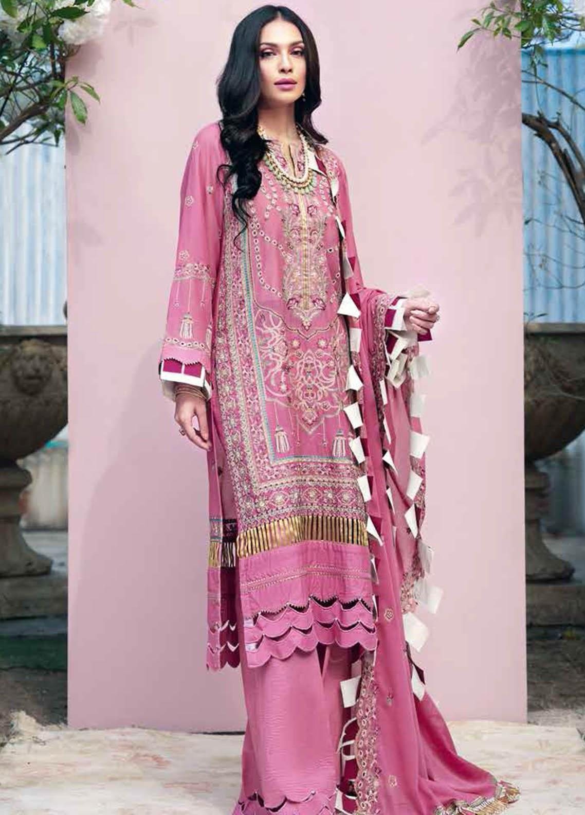Gul Ahmed Embroidered Swiss Voile Suits Unstitched 3 Piece GA21S LSV 49 - Summer Collection