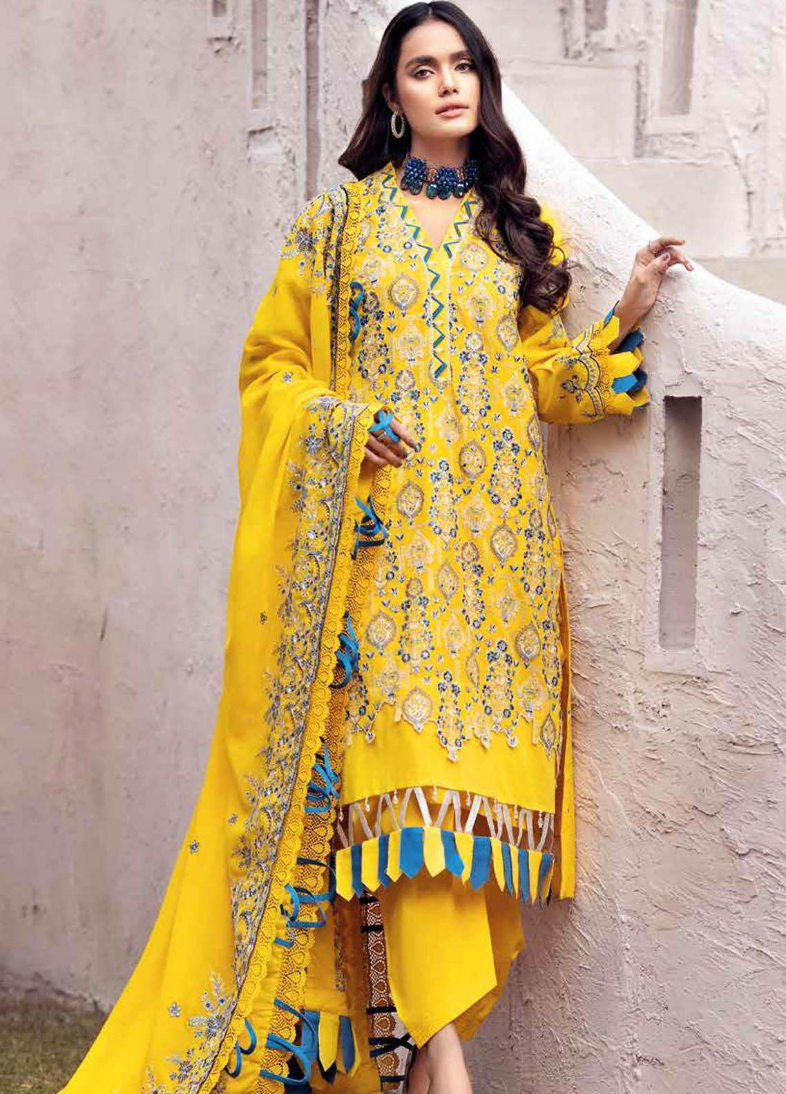 Gul Ahmed Embroidered Swiss Voile Suits Unstitched 3 Piece GA21S LSV 54 - Summer Collection