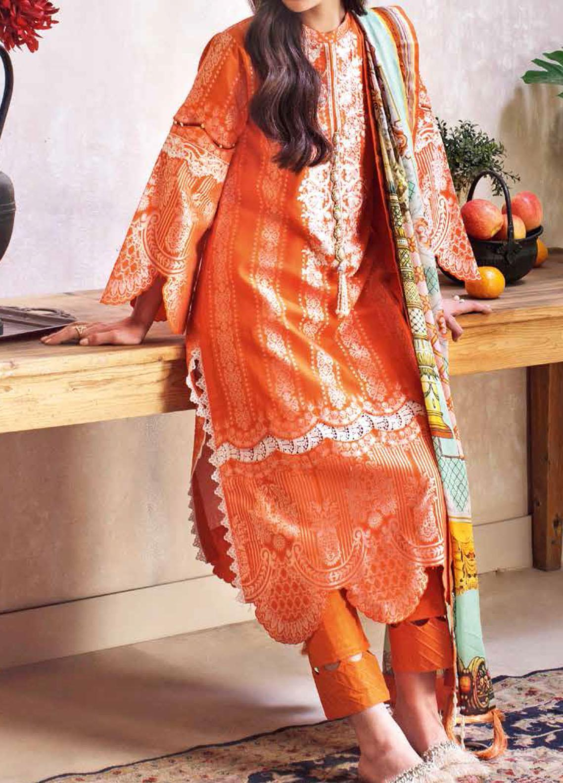 Gul Ahmed Embroidered Jacquard Suits Unstitched 3 Piece GA21S MJ 54 - Summer Collection