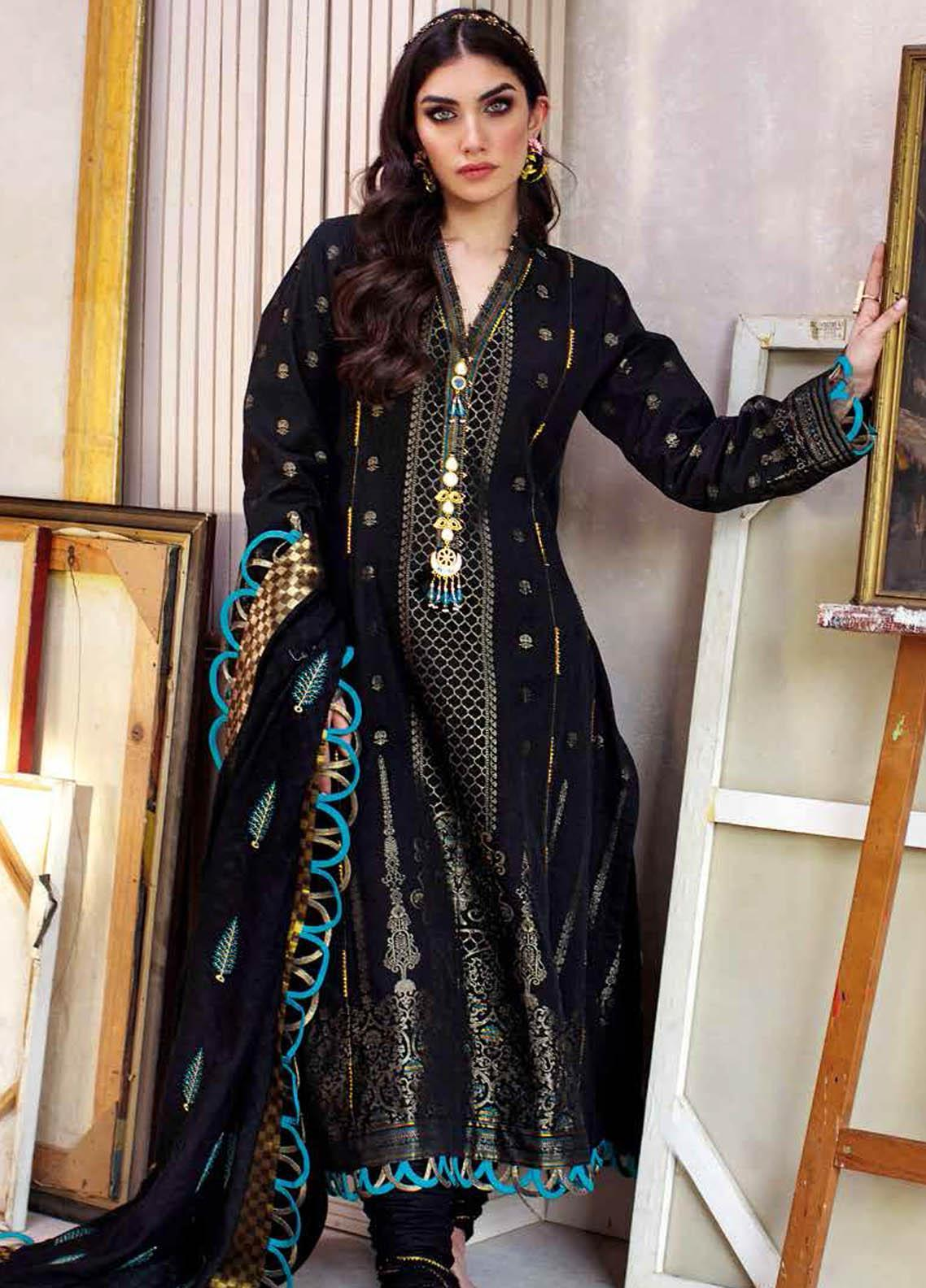Gul Ahmed Embroidered Jacquard Suits Unstitched 3 Piece GA21S MJ 60 - Summer Collection