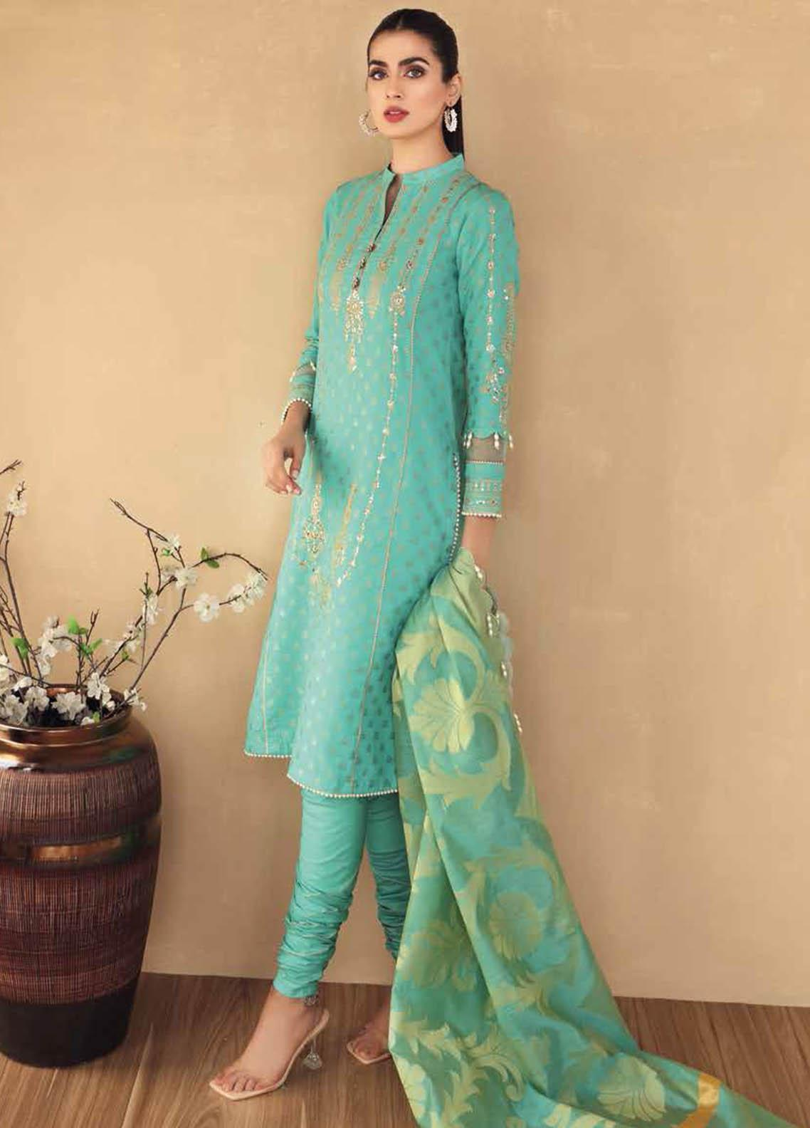 Gul Ahmed Embroidered Jacquard Suits Unstitched 3 Piece GA21S MJ 65 - Summer Collection