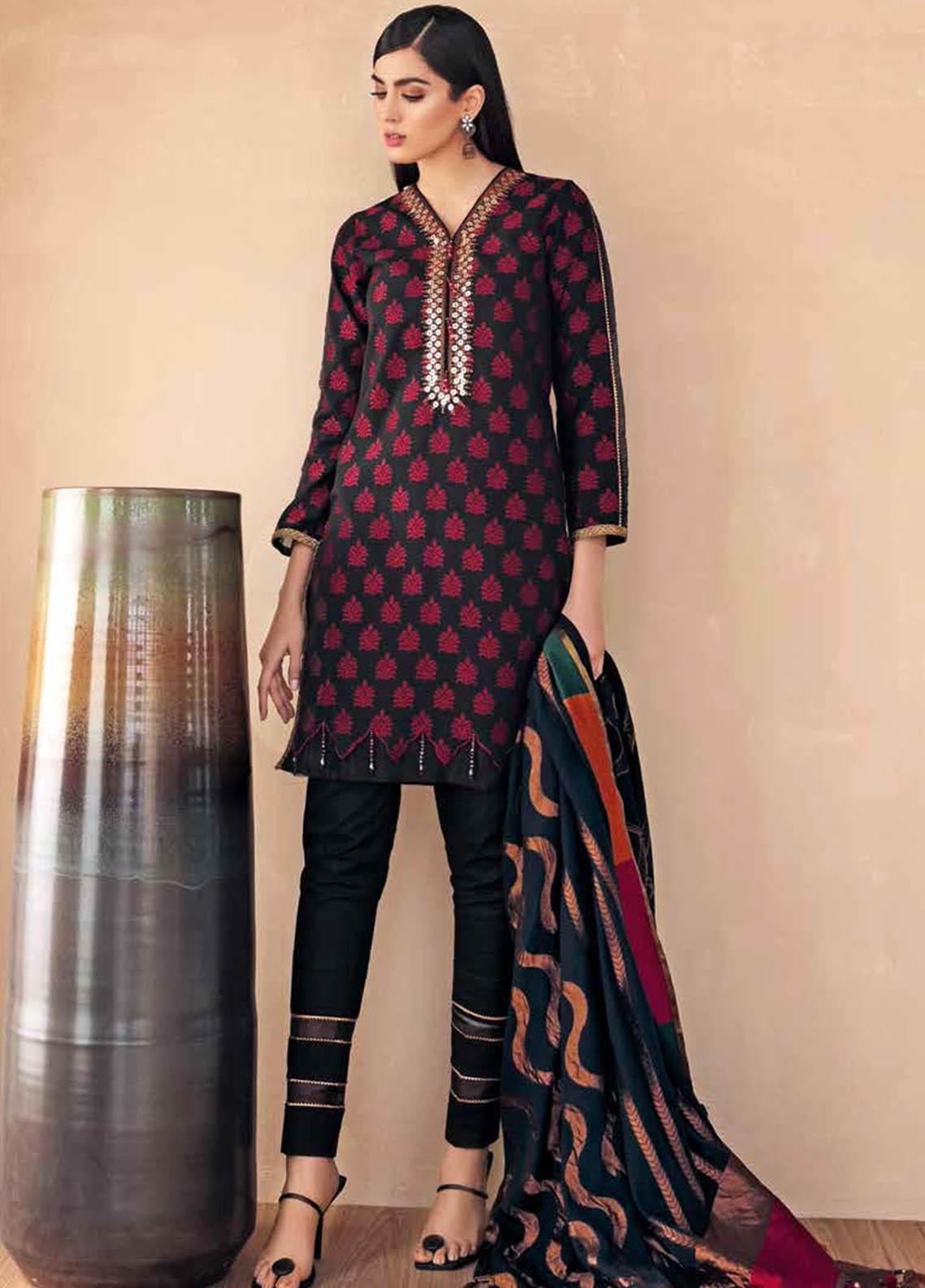 Gul Ahmed Embroidered Jacquard Suits Unstitched 3 Piece GA21S MJ 71 - Summer Collection