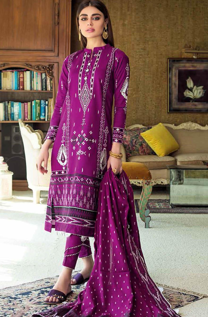 Gul Ahmed Embroidered Lawn Suits Unstitched 3 Piece GA21S MJ 83 - Summer Collection