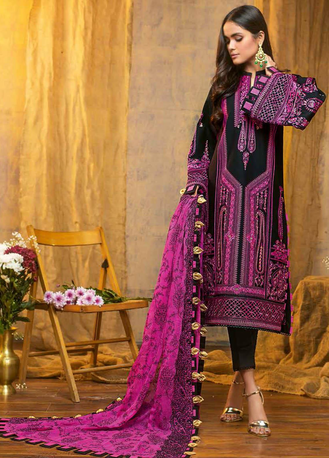 Gul Ahmed Embroidered Lawn Suits Unstitched 3 Piece GA21S PM 380 - Summer Collection