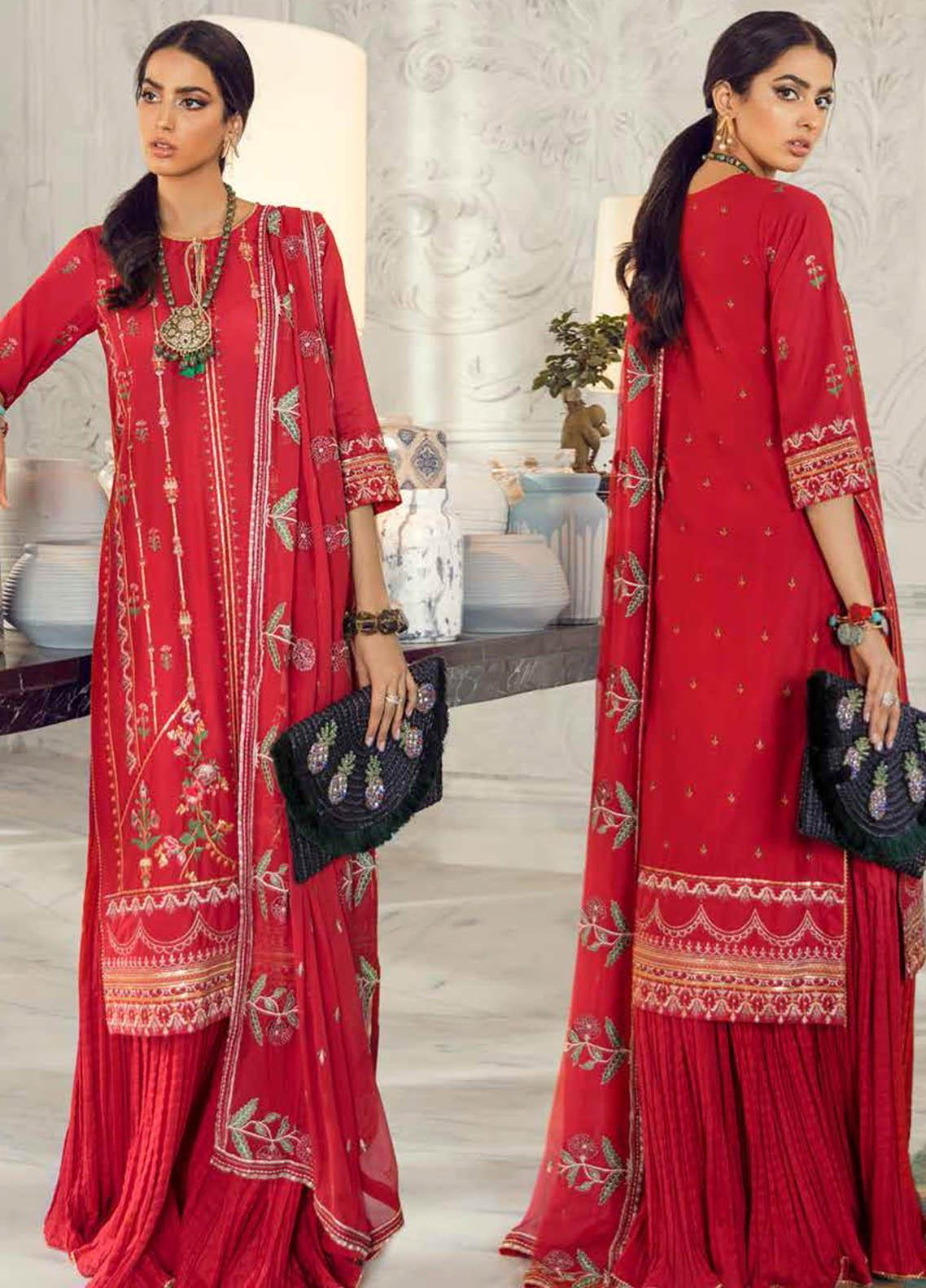 Gul Ahmed Embroidered Lawn Suits Unstitched 3 Piece GA21S PM 392 - Summer Collection