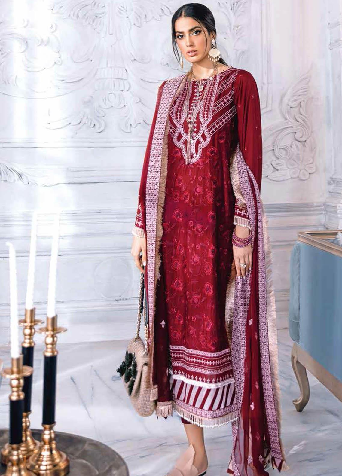 Gul Ahmed Embroidered Lawn Suits Unstitched 3 Piece GA21S PM 396 - Summer Collection