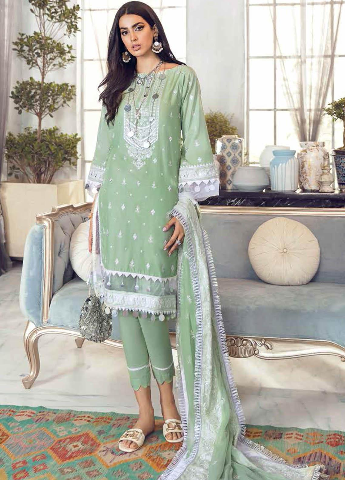 Gul Ahmed Embroidered Lawn Suits Unstitched 3 Piece GA21S PM 397 - Summer Collection