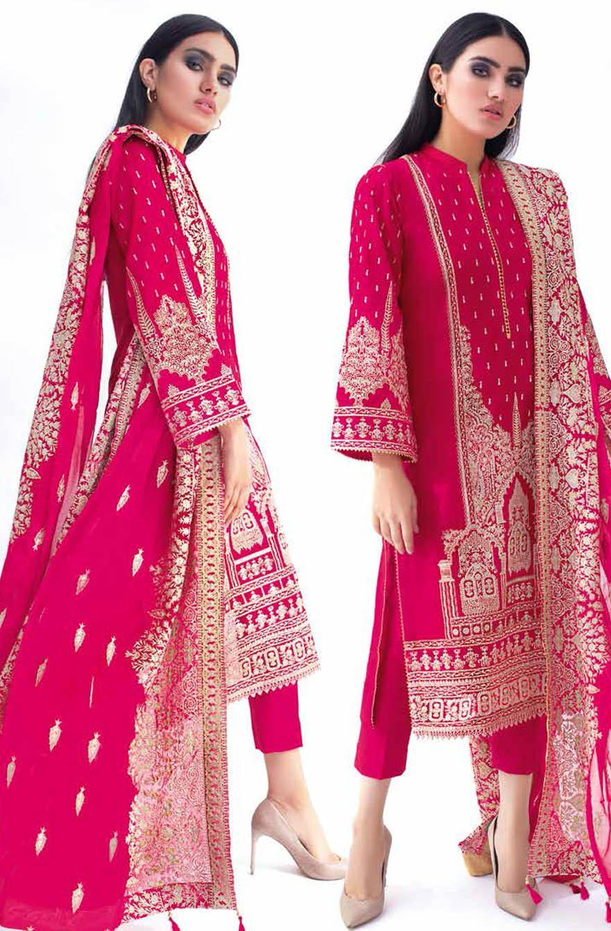 Gul Ahmed Embroidered Lawn Suits Unstitched 3 Piece GA21S PM 419 - Summer Collection