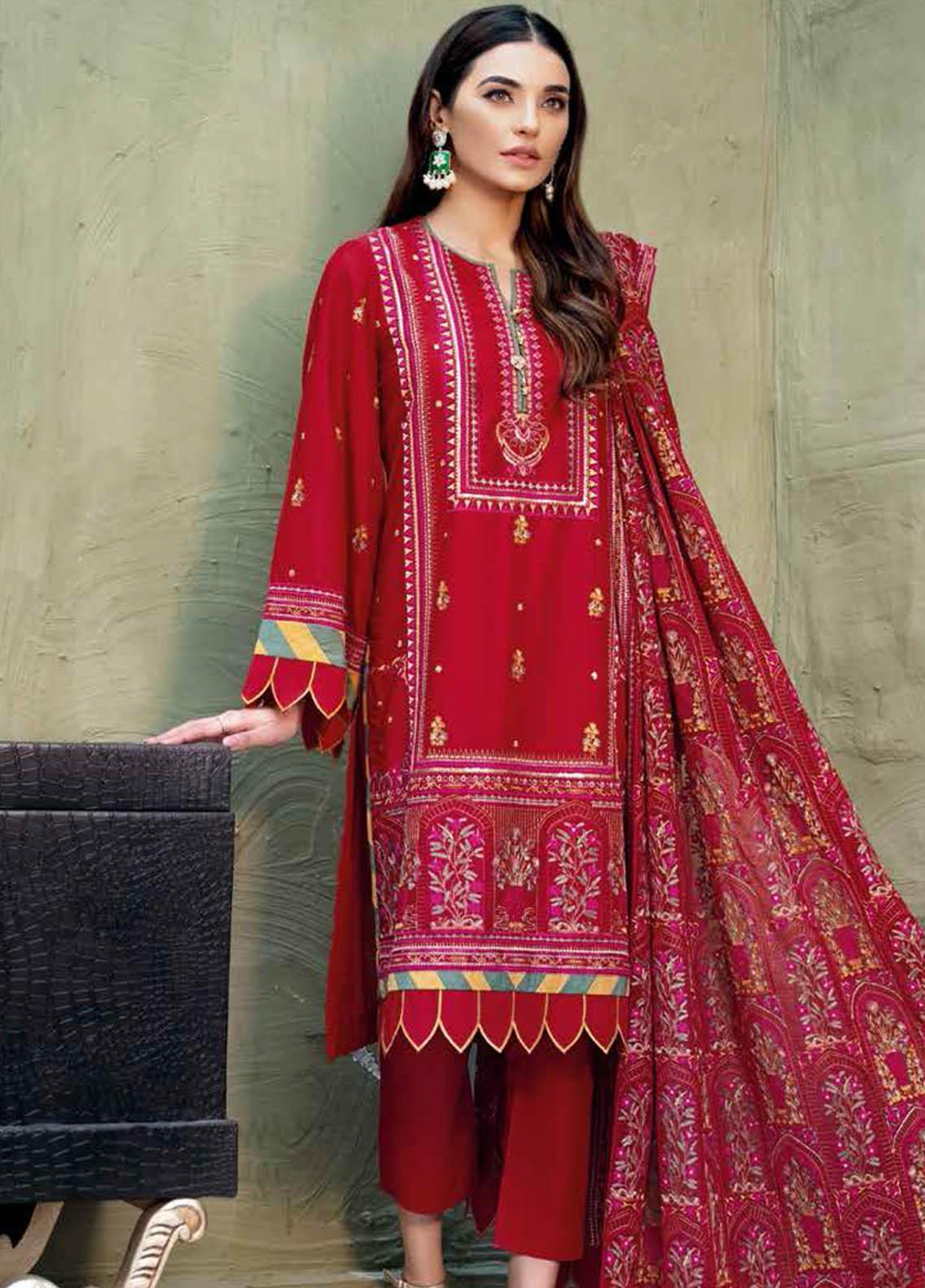 Gul Ahmed Embroidered Lawn Suits Unstitched 3 Piece GA21S PM 422 - Summer Collection
