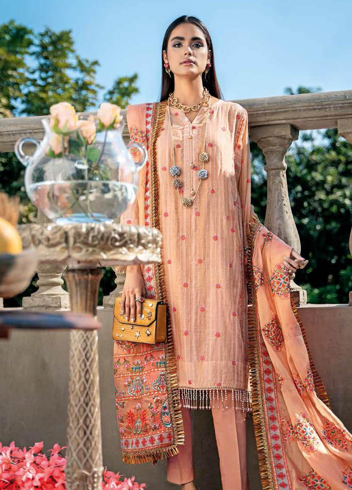 Gul Ahmed Embroidered Jacquard Suits Unstitched 3 Piece GA21S SP 10 - Summer Collection