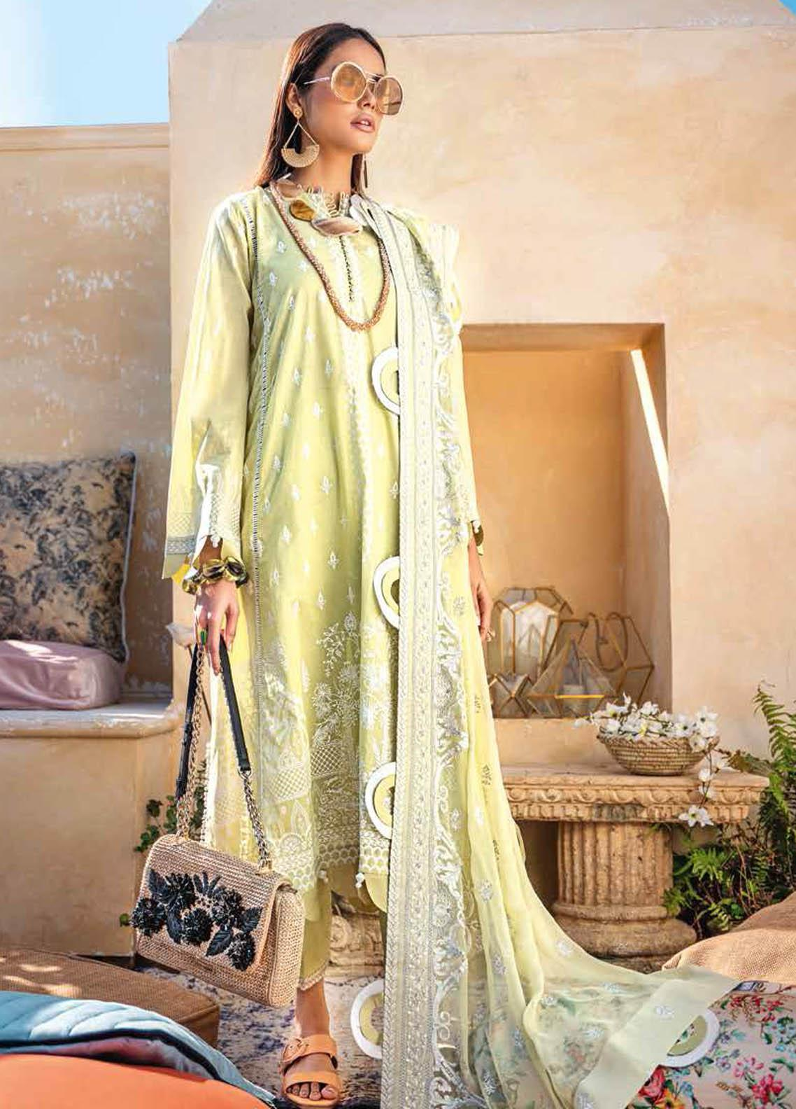 Gul Ahmed Embroidered Lawn Suits Unstitched 3 Piece GA21S SP 43 - Summer Collection