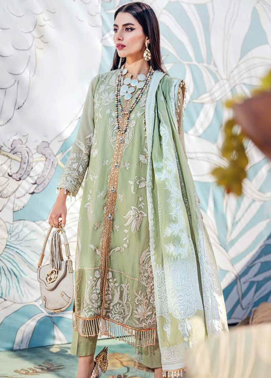 Gul Ahmed Embroidered Net Suits Unstitched 3 Piece GA21S SP 44 - Summer Collection