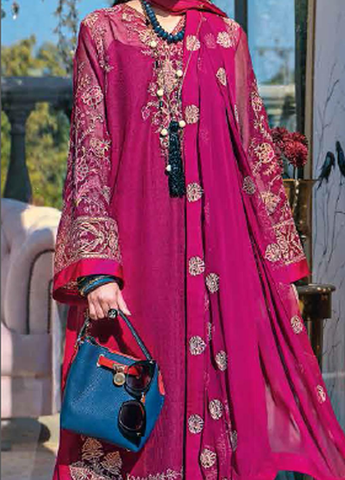 Gul Ahmed Embroidered Cotton Net Suits Unstitched 3 Piece GA21S SP 45 - Summer Collection