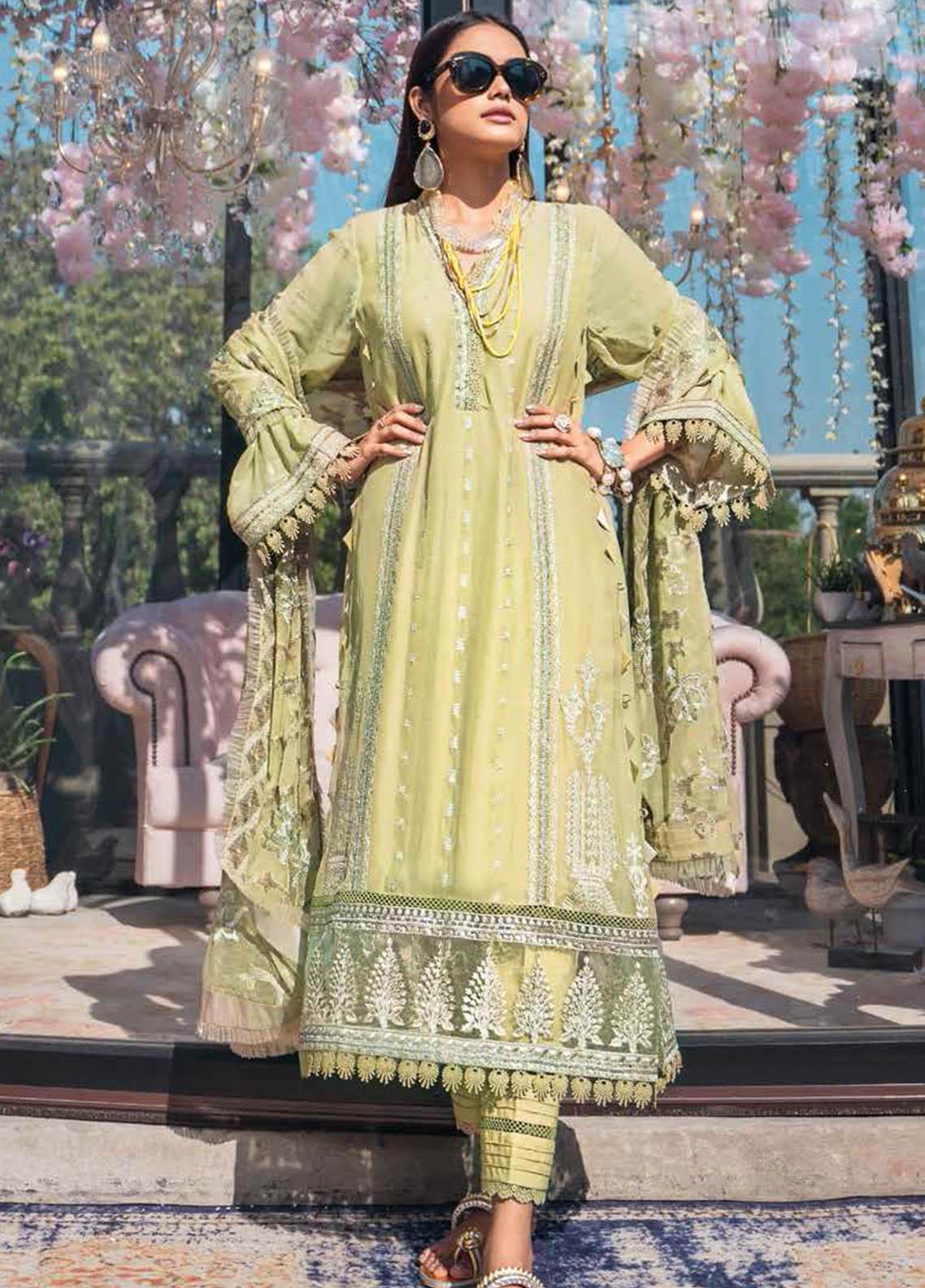 Gul Ahmed Embroidered Chiffon Suits Unstitched 3 Piece GA21S SP 53 - Summer Collection