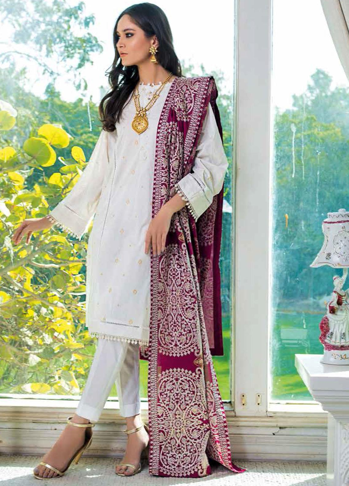 Gul Ahmed Embroidered Lawn Suits Unstitched 3 Piece GA21S SP 74 - Summer Collection