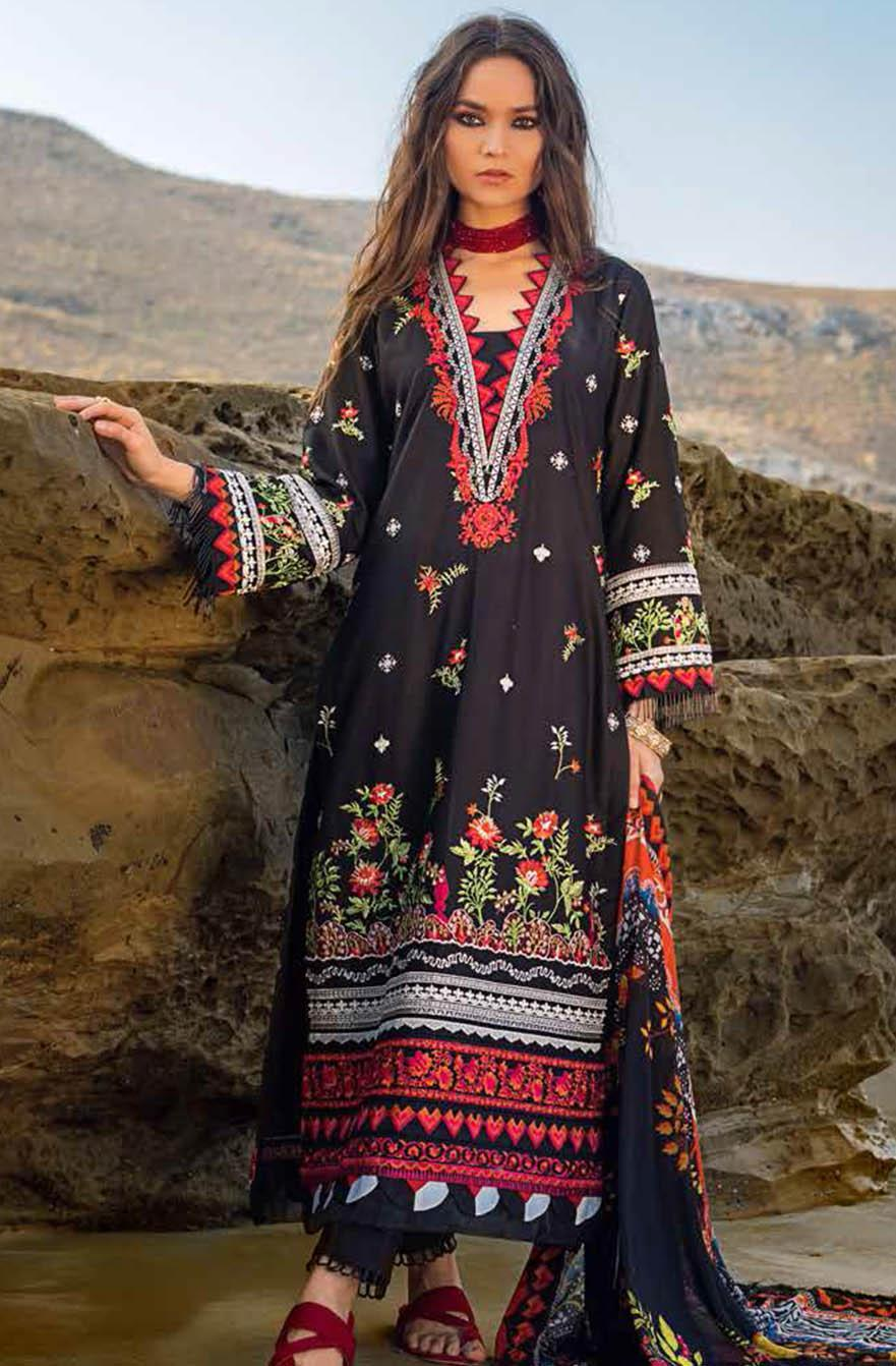Gul Ahmed Embroidered Lawn Suits Unstitched 3 Piece GA21S SSM 56 - Summer Collection