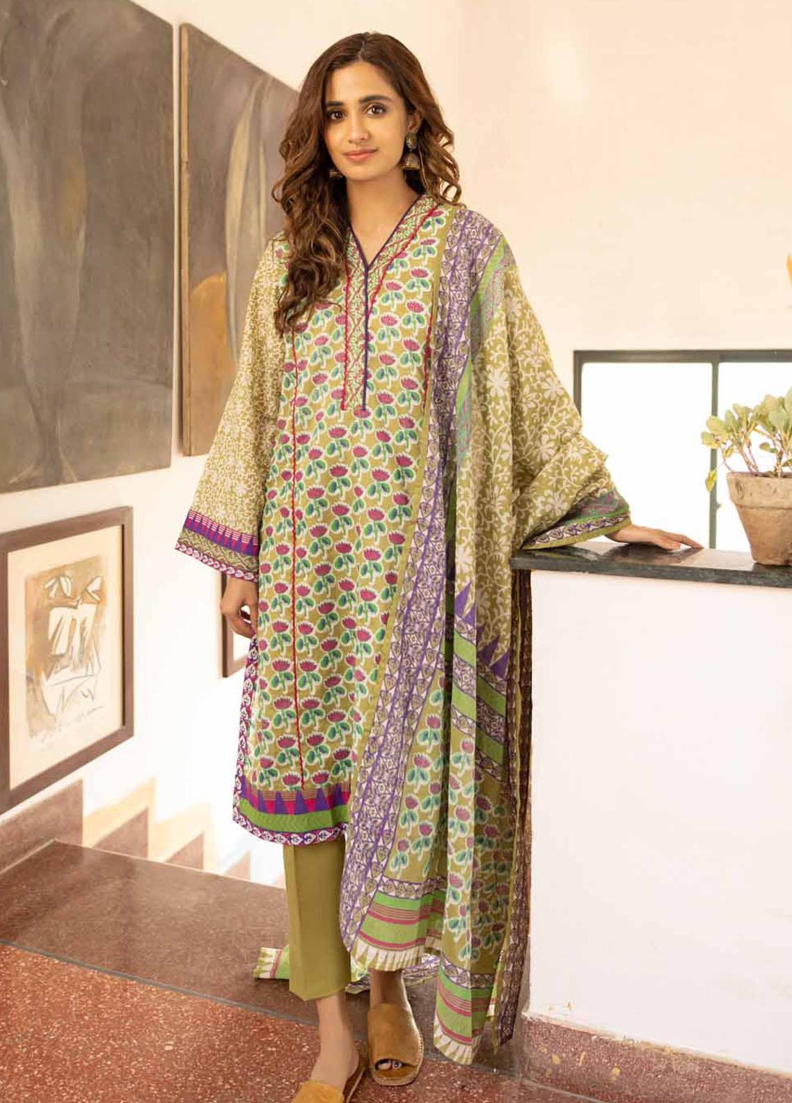 Rang Angan By Gul Ahmed Printed Lawn Suits Unstitched 3 Piece GA21RA CL-1260 A - Summer Collection
