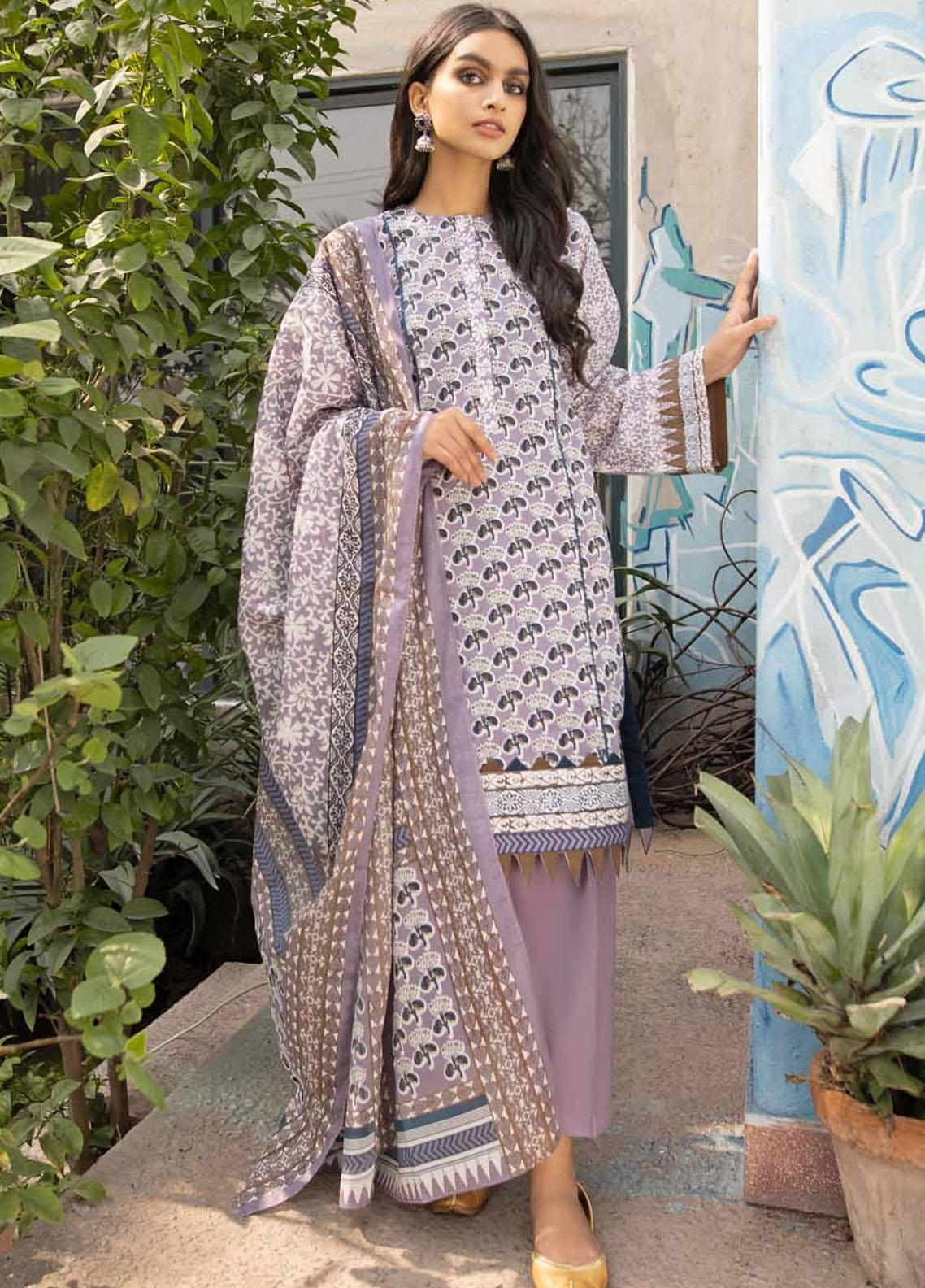 Rang Angan By Gul Ahmed Printed Lawn Suits Unstitched 3 Piece GA21RA CL-1260 B - Summer Collection