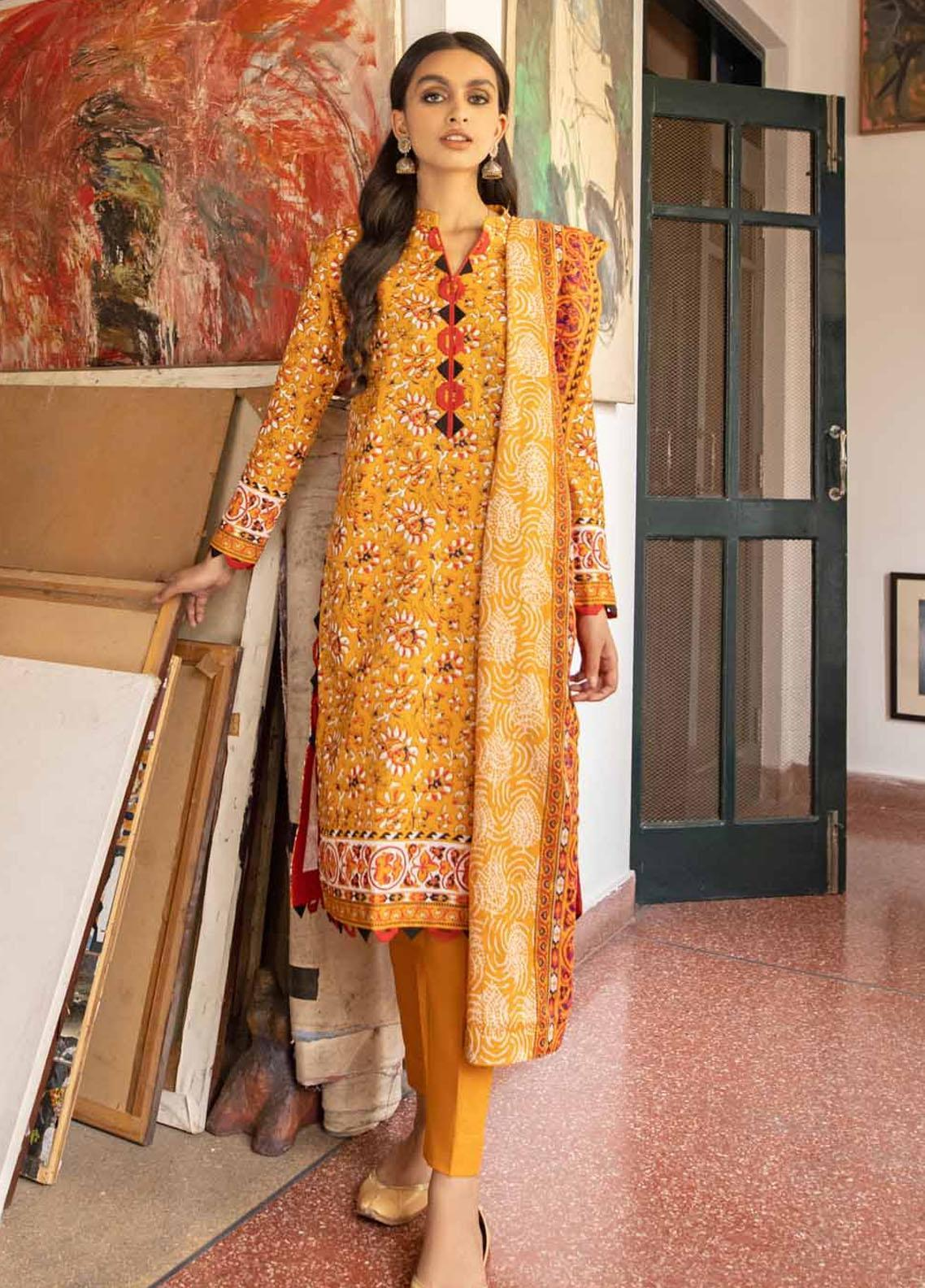 Rang Angan By Gul Ahmed Printed Lawn Suits Unstitched 3 Piece GA21RA CL-1264 B - Summer Collection