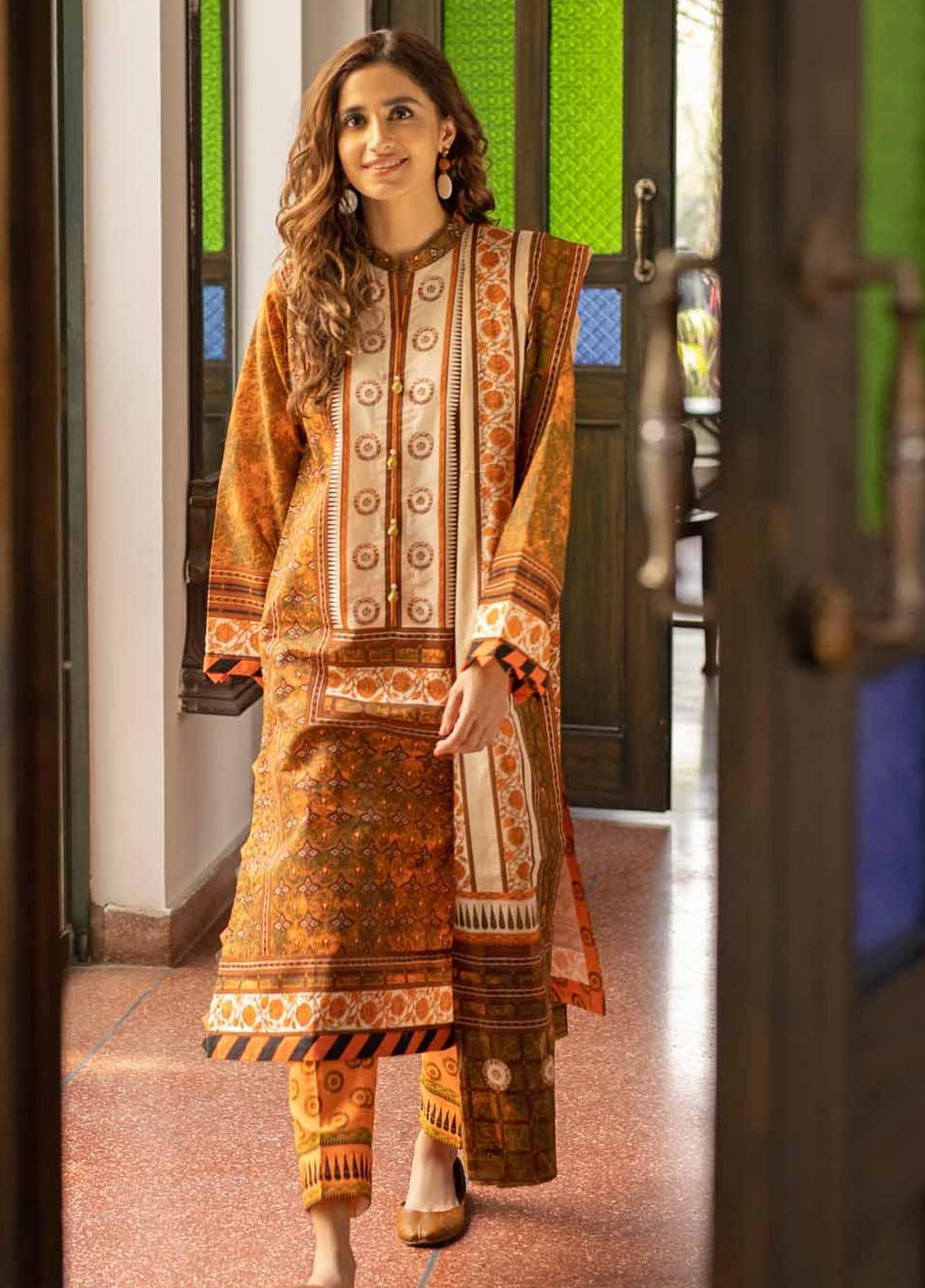 Rang Angan By Gul Ahmed Printed Lawn Suits Unstitched 3 Piece GA21RA CL-1268 A - Summer Collection