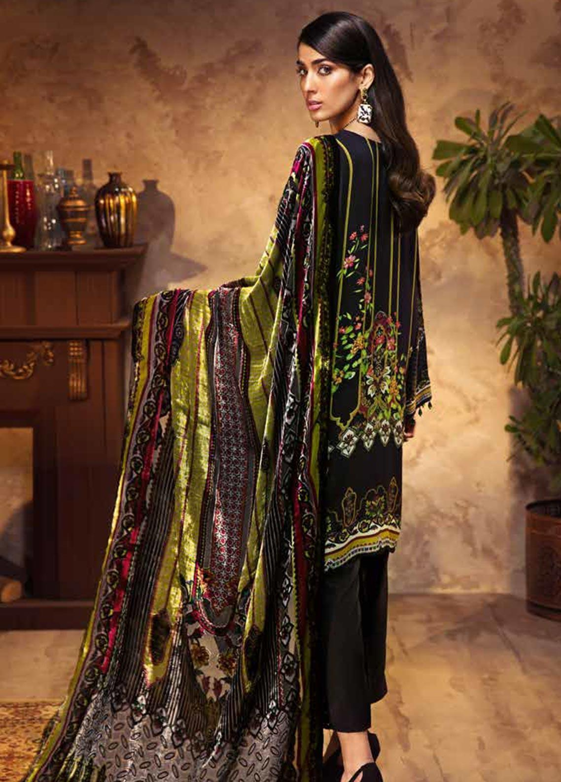 Gul Ahmed Embroidered Velvet Unstitched 3 Piece Suit Ga19w Tvl 02 Winter Collection
