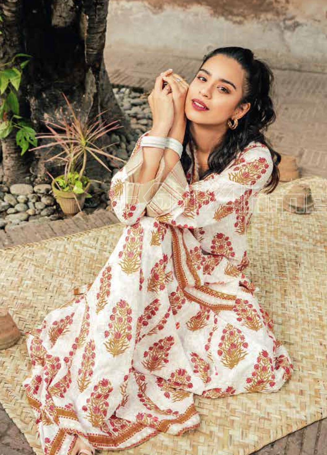 Gul Ahmed Printed Lawn Unstitched Kurties GL20VG SL-805 - Spring / Summer Collection
