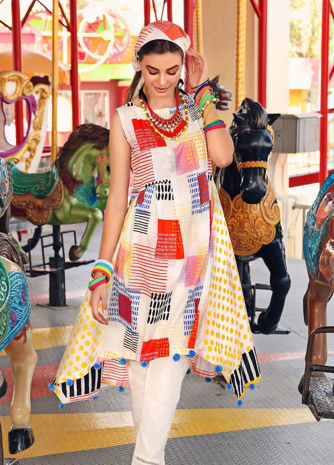 Gul Ahmed Printed Lawn Unstitched 2 Piece Suit GA20Y TL-266 - Spring / Summer Collection