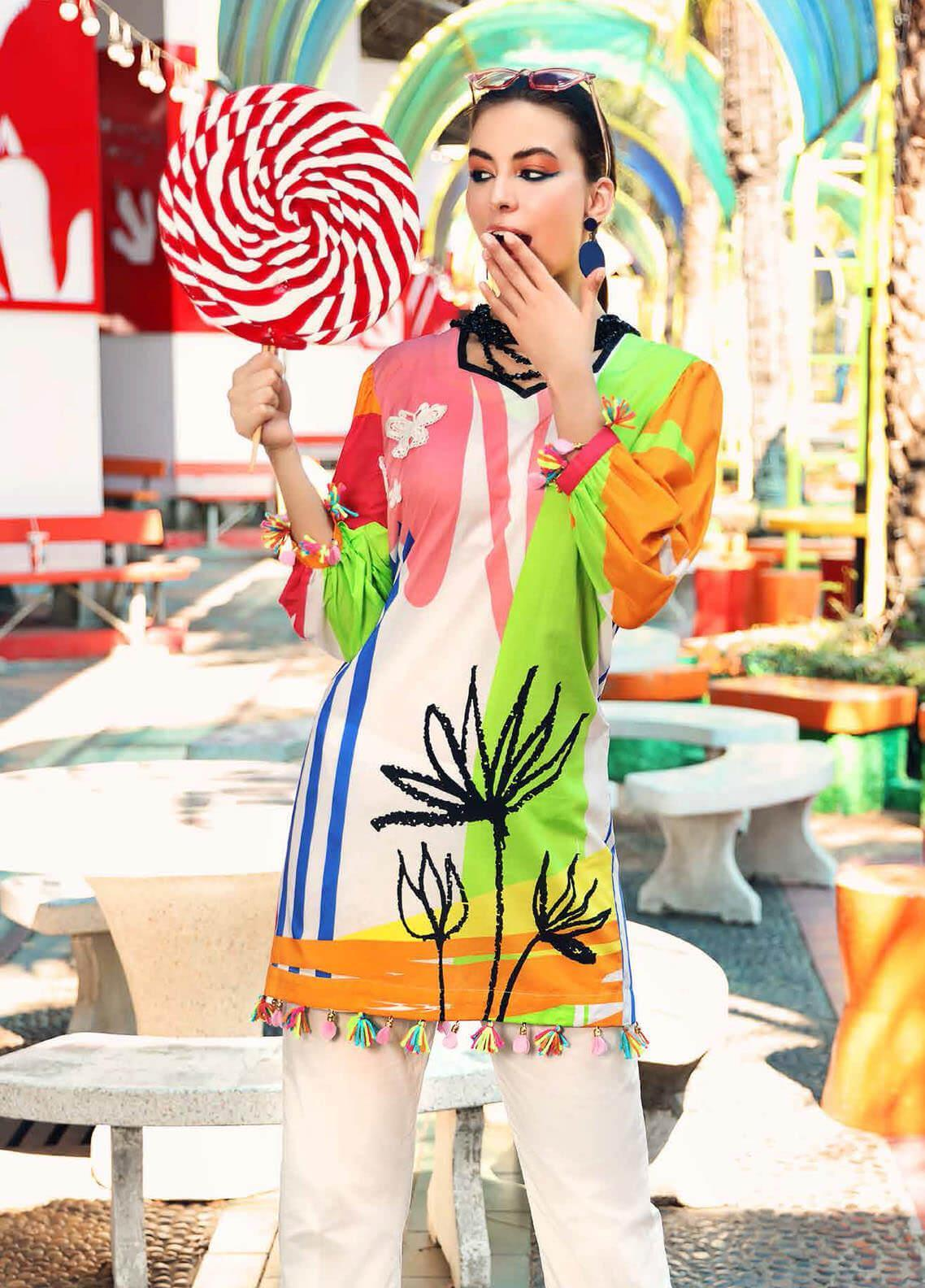 Gul Ahmed Printed Lawn Unstitched 2 Piece Suit GA20Y TL-267 - Spring / Summer Collection