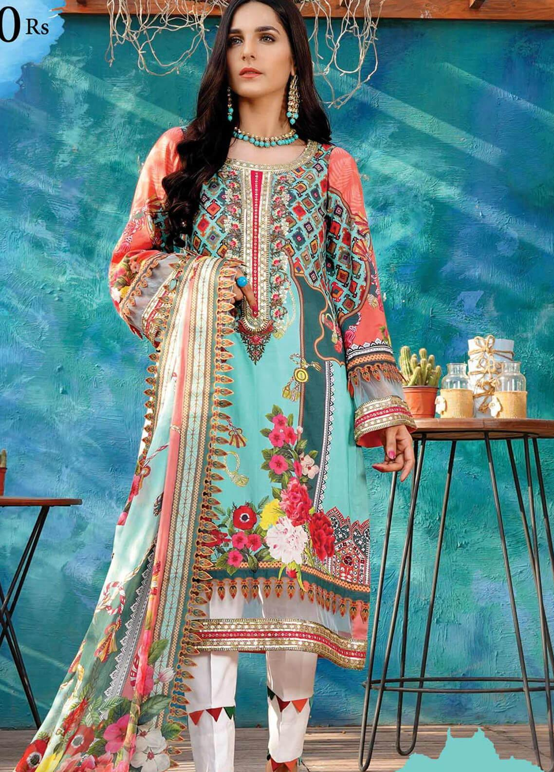 Gul e Lala by Anamta Embroidered Lawn Unstitched 3 Piece Suit ANT20G GL 08 - Spring / Summer Collection