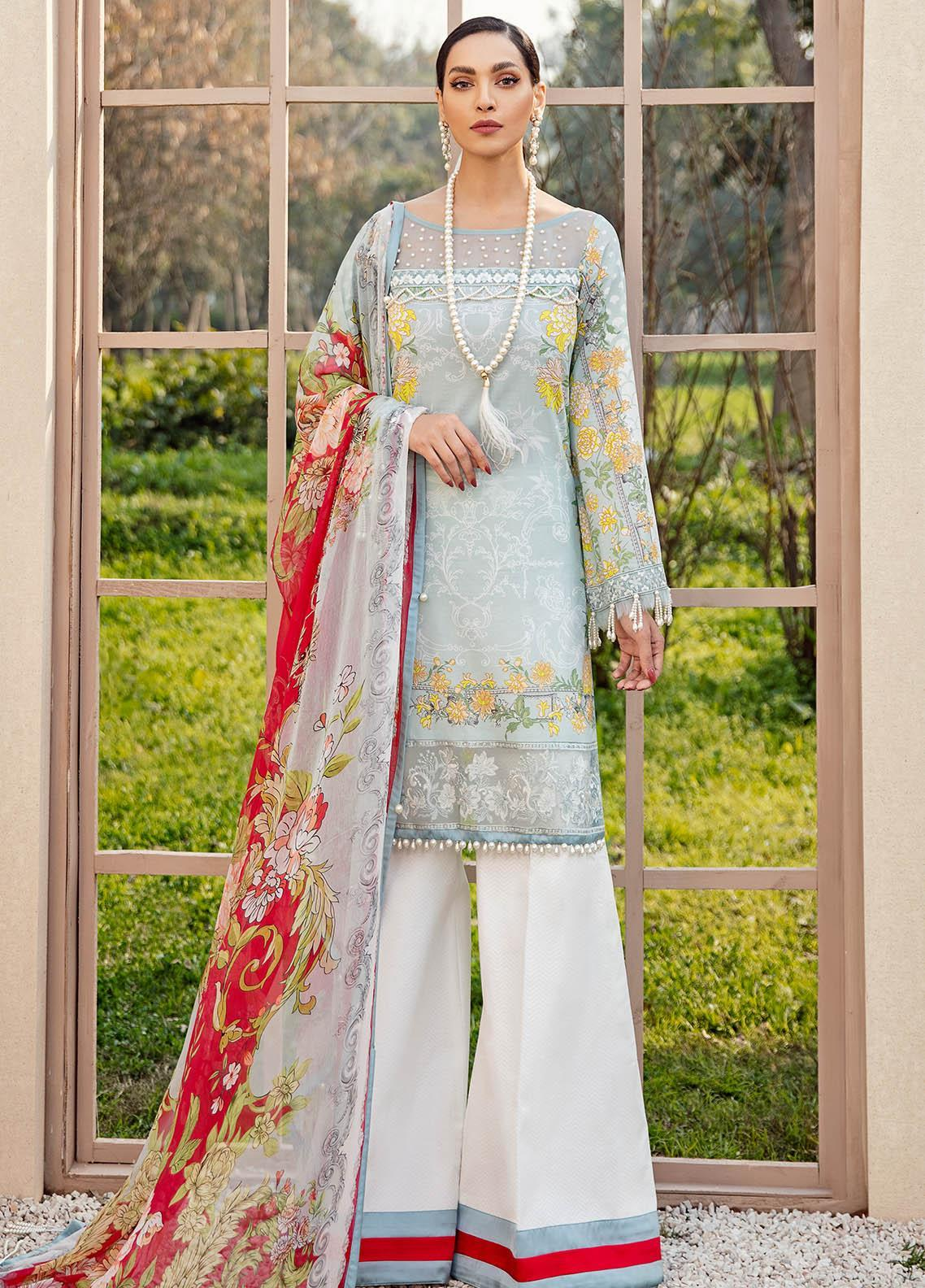 Gulaal Embroidered Lawn Suits Unstitched 3 Piece GL21L GL-05 Sehar - Summer Collection