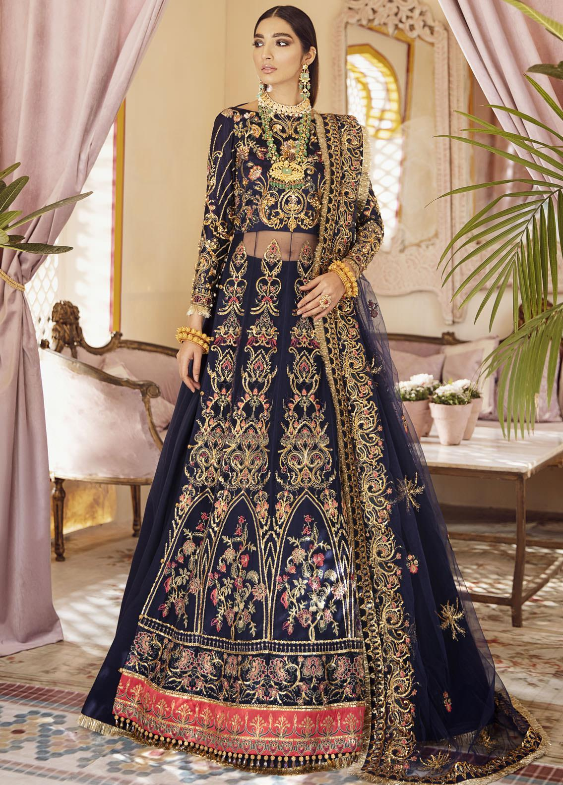 Gulaal Embroidered Net Unstitched 3 Piece Suit GL20WD 05 Sahiba - Wedding Collection