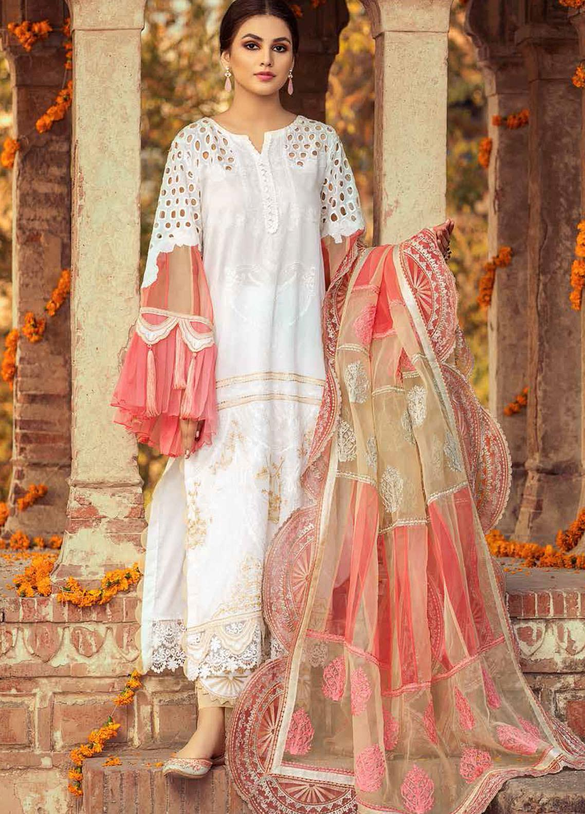 Gulzar By Charizma Embroidered Lawn Suits Unstitched 3 Piece CRZ21G 01 Dazed Delight - Summer Collection