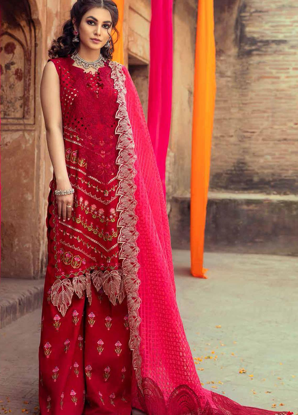 Gulzar By Charizma Embroidered Lawn Suits Unstitched 3 Piece CRZ21G 04 Rosy Future - Summer Collection