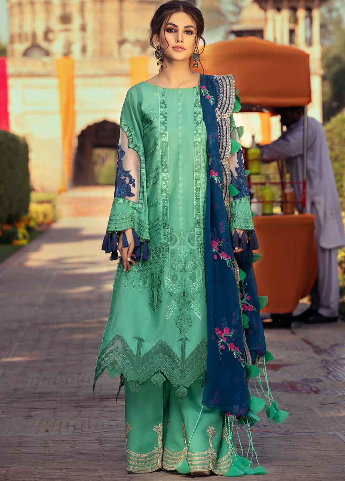 Gulzar By Charizma Embroidered Lawn Suits Unstitched 3 Piece CRZ21G 09 Shine Away - Summer Collection