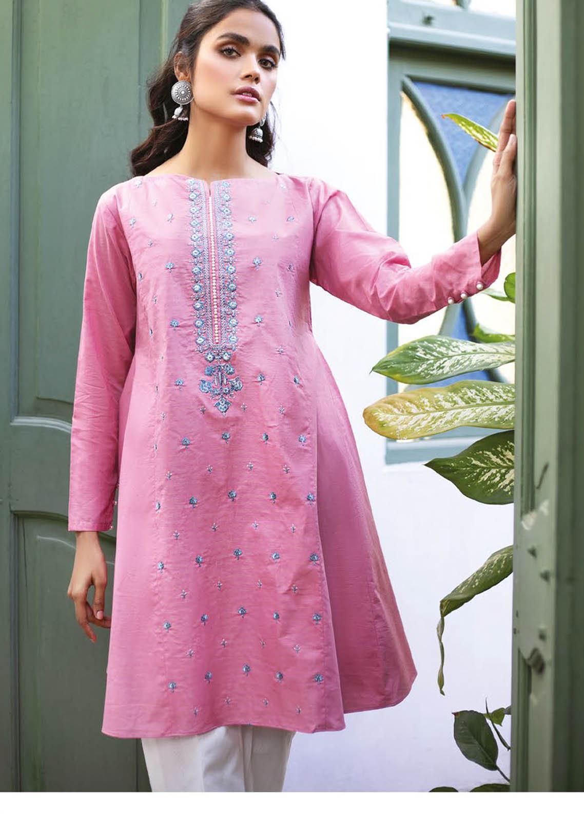 Orient Textile Embroidered Missouri  Unstitched Kurties OTL-21-036 Pink - Summer Collection