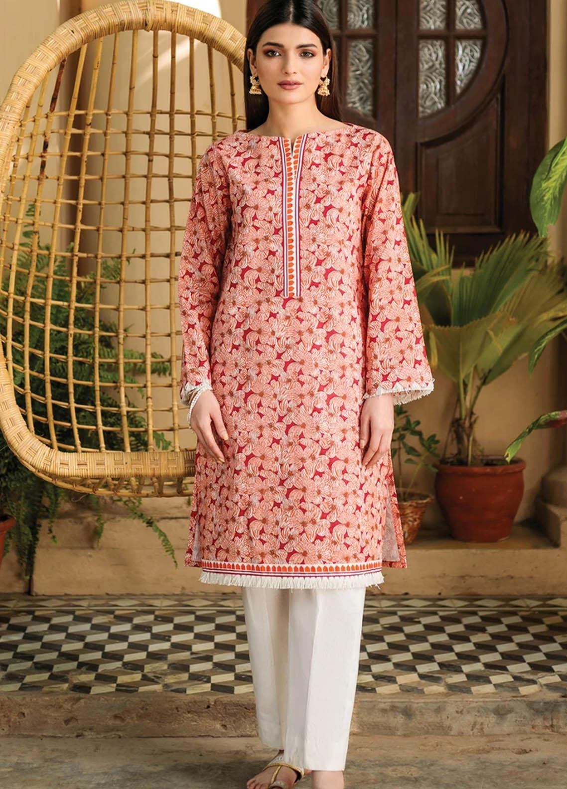 Orient Textile Printed Lawn  Unstitched Kurties OTL-21-037 A - Summer Collection