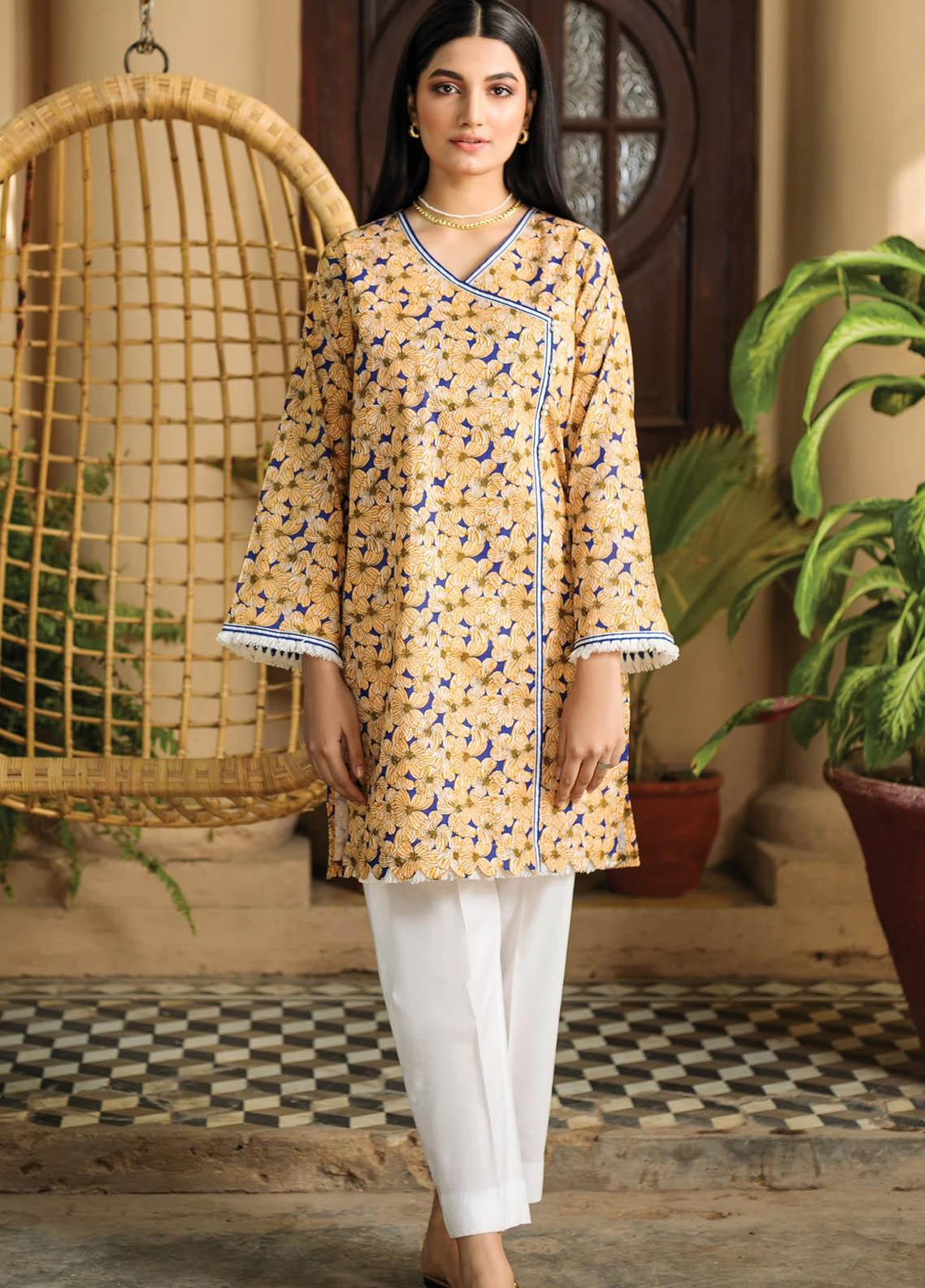 Orient Textile Printed Lawn  Unstitched Kurties OTL-21-037 B - Summer Collection