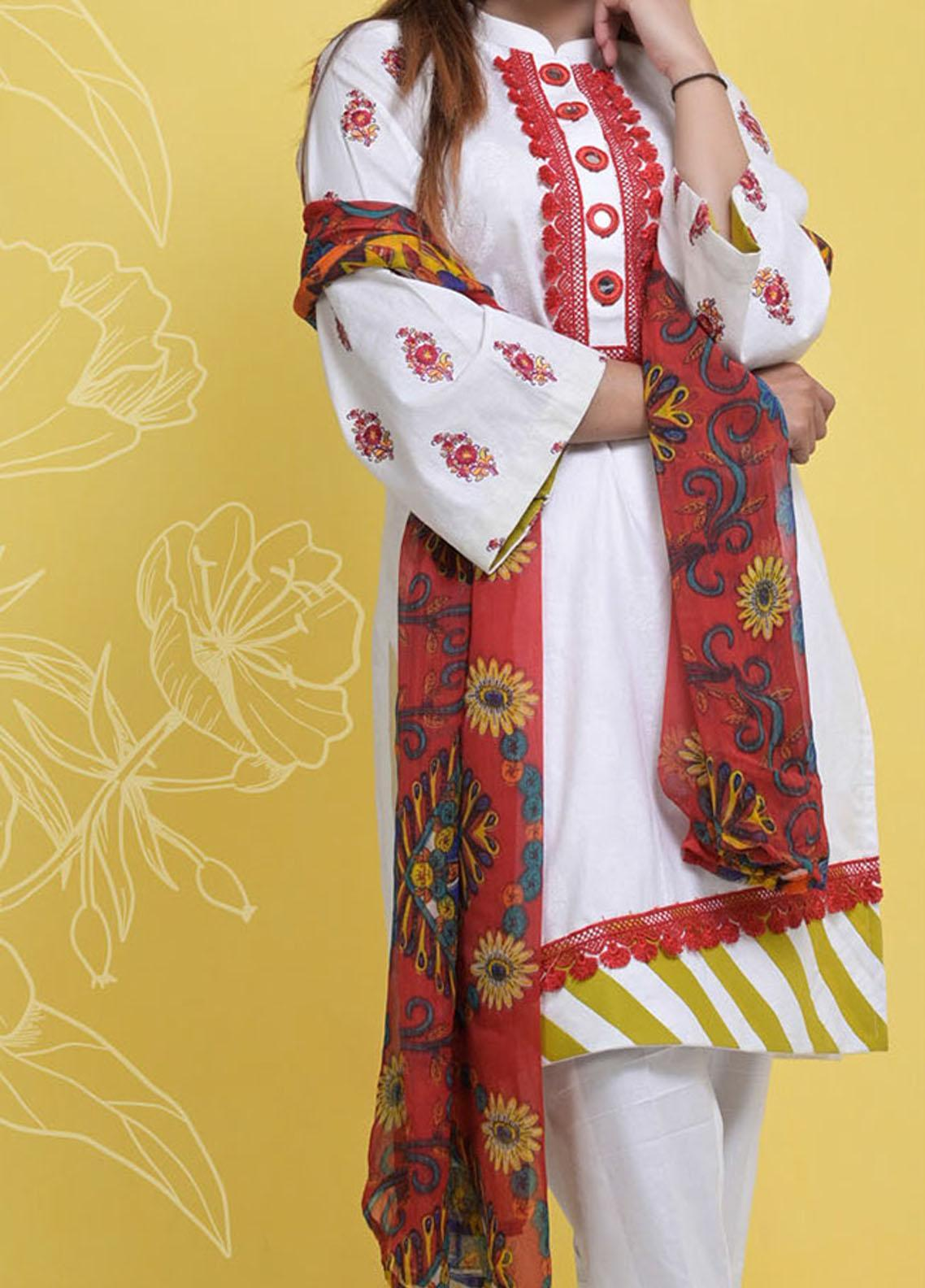 Halima Sultan Embroidered Lawn Suits Unstitched 3 Piece HS21L 02 - Summer Collection