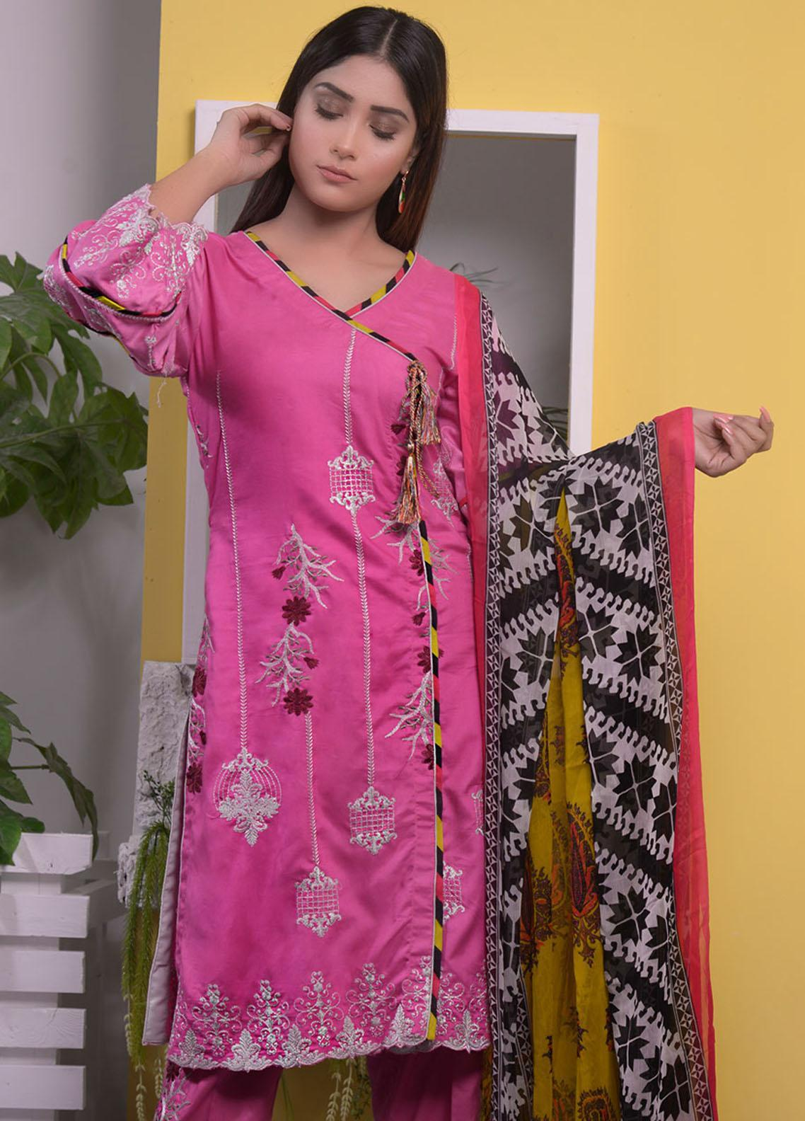 Halima Sultan Embroidered Linen Unstitched 3 Piece Suit HS20LW D-03 - Winter Collection