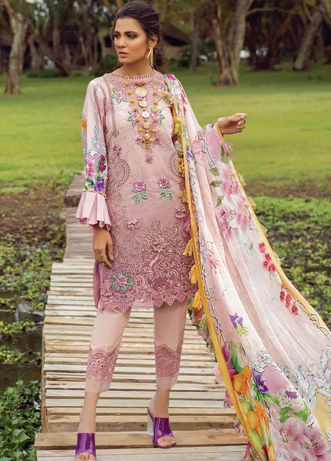 Hemline By Mushq Embroidered Chikankari Suits Unstitched 3 Piece MQ21H 04 Blissful Happiness - Spring / Summer Collection