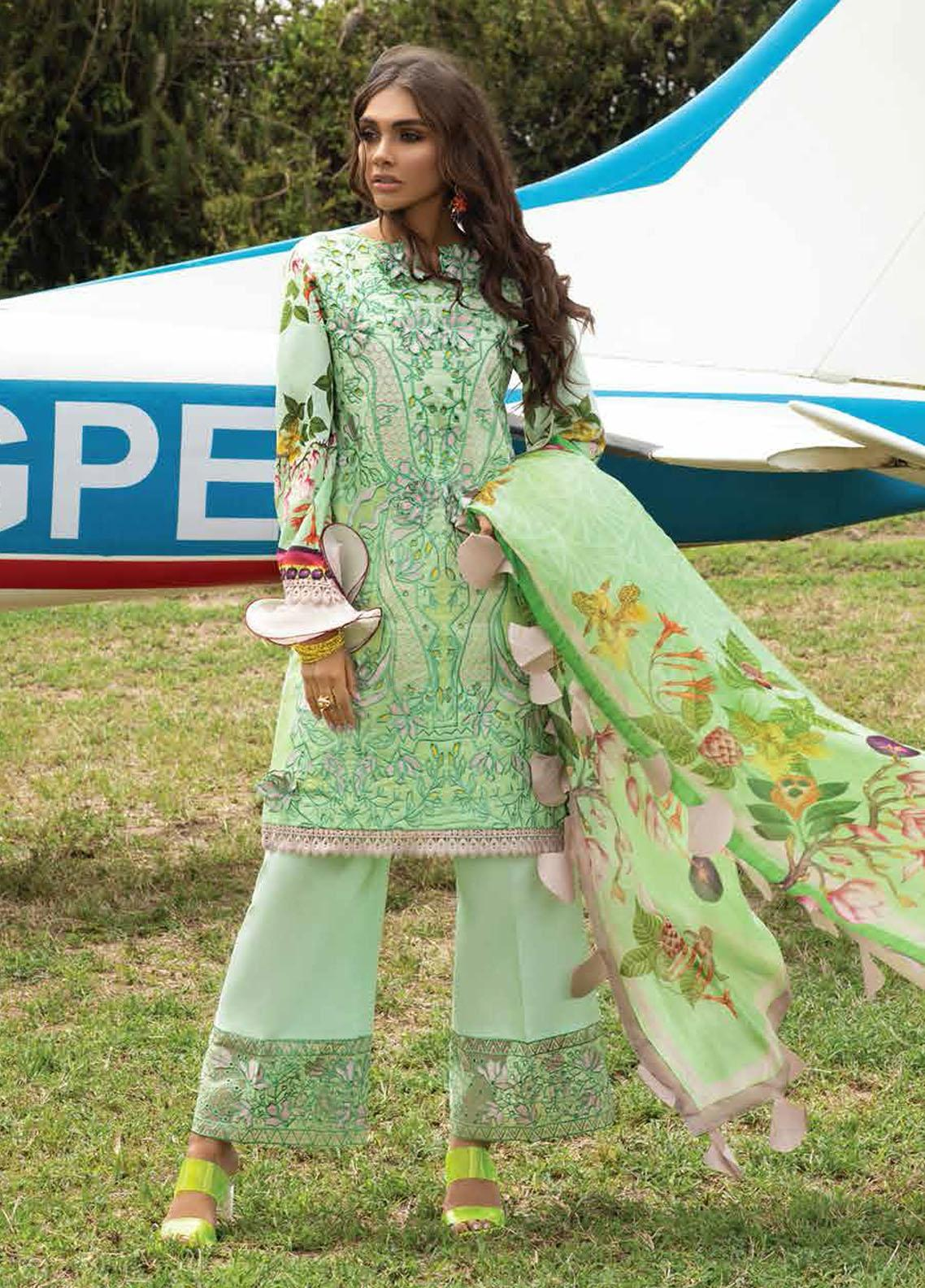 Hemline By Mushq Embroidered Chikankari Suits Unstitched 3 Piece MQ21H 14 Spring Bud - Spring / Summer Collection