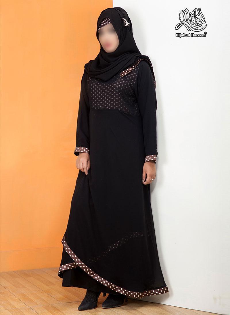 Hijab ul Hareem Pullover Chiffon Stitched Abaya 0120-R-817