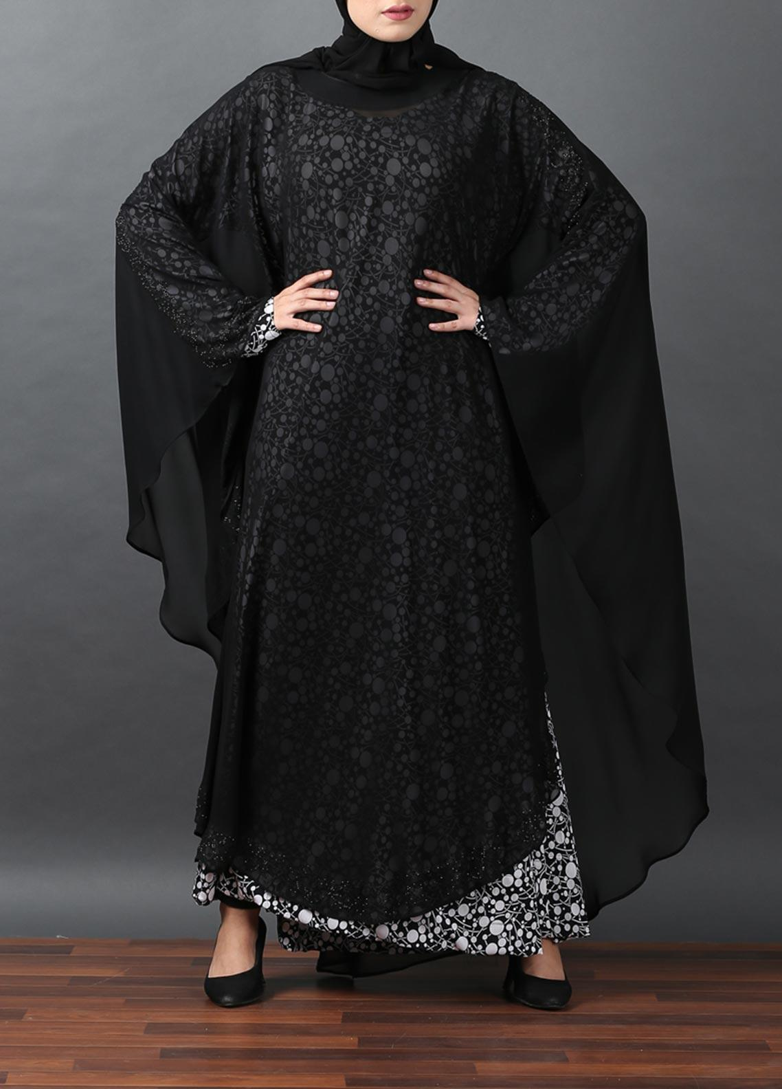 Hijab ul Hareem Jilbab Chiffon Stitched Abaya JILBAB-RC-A314