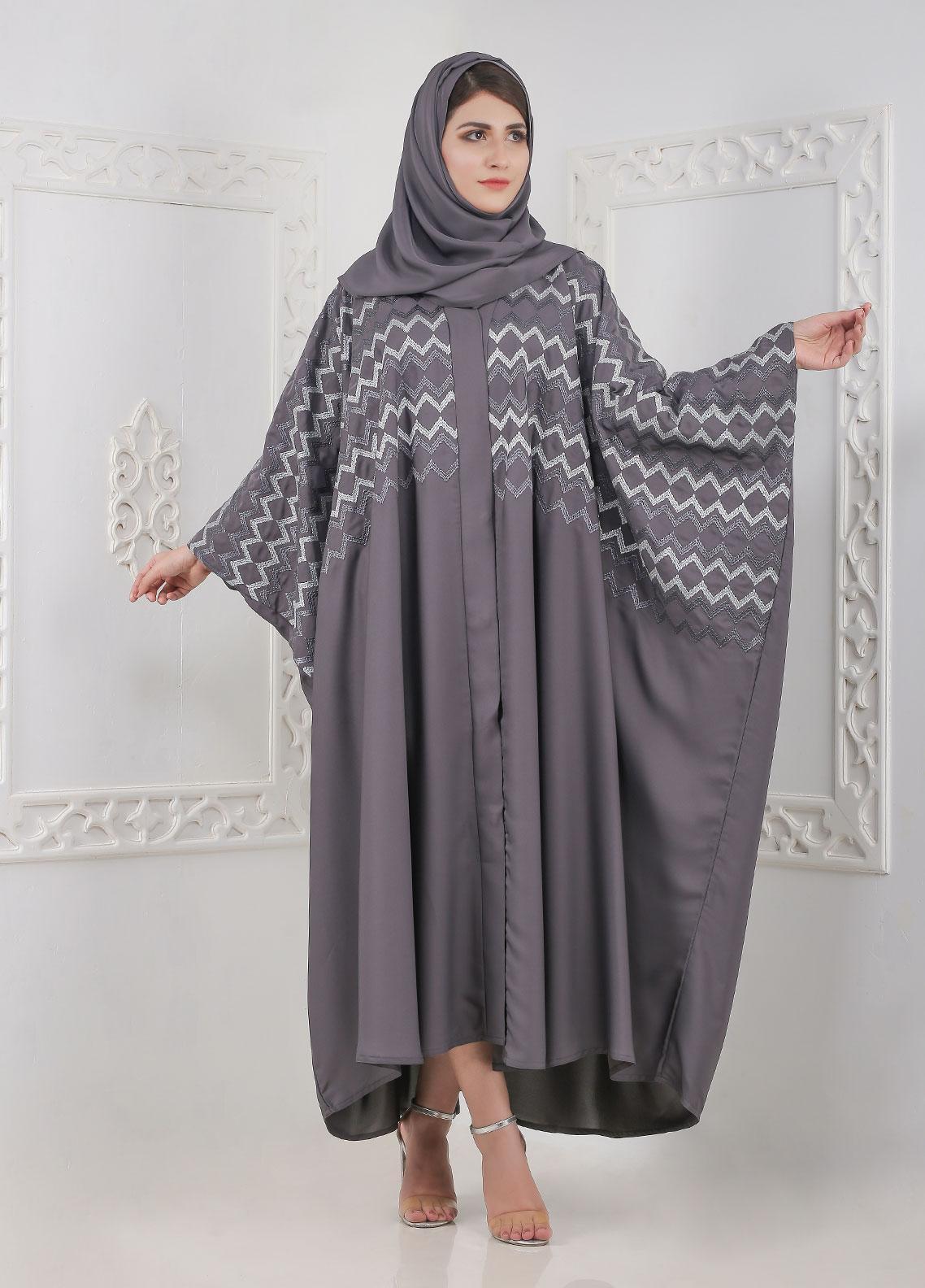 Hijab ul Hareem Front Open Nida Stitched Abaya A JILBAB-K-A376