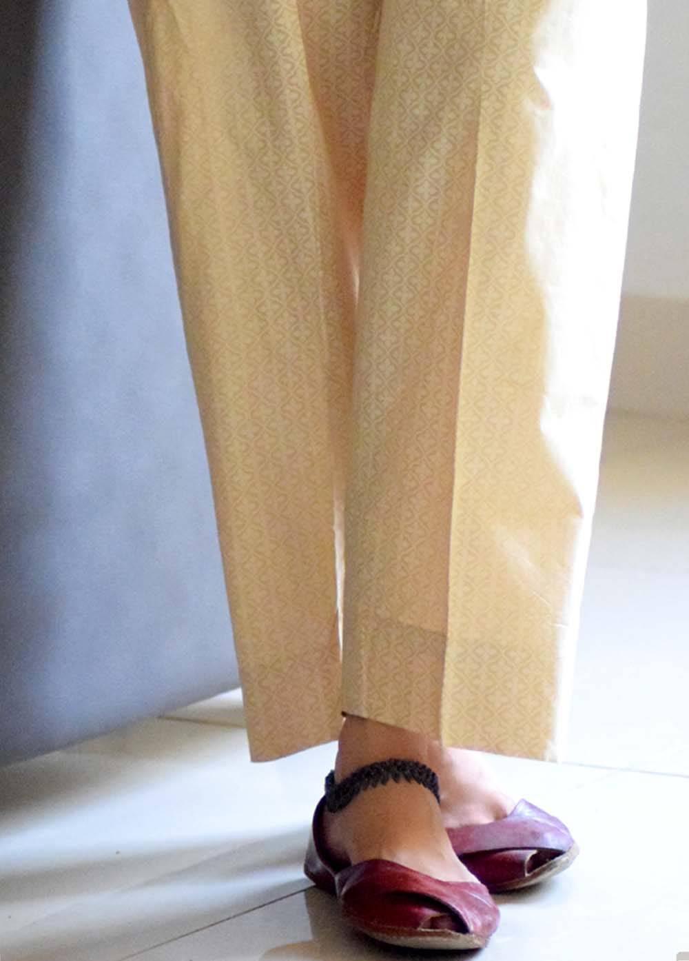Harim Khan Printed Lawn Stitched Trouser HK17E DT 01