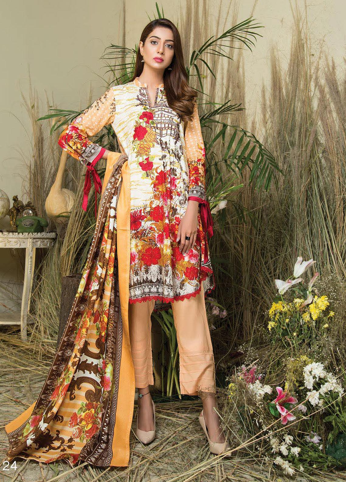 Hurrem Embroidered Chikankari Unstitched 3 Piece Suit HM19CK 19589 - Luxury Collection