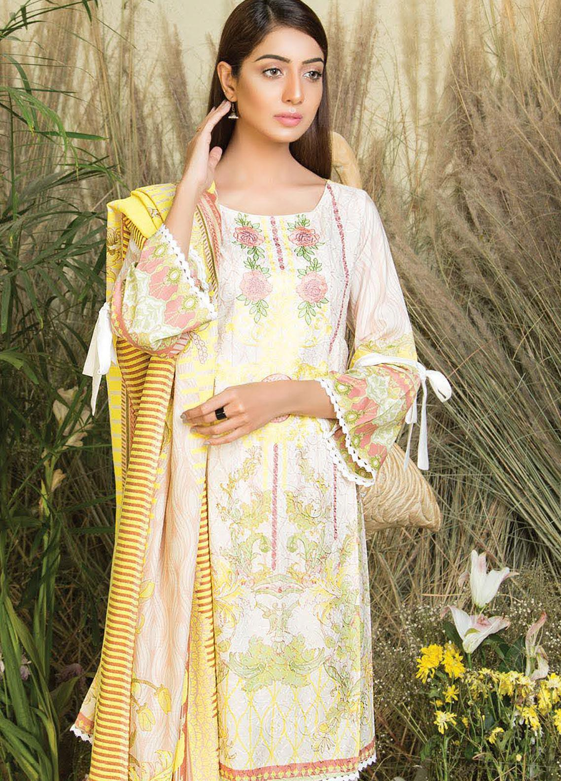 Hurrem Embroidered Chikankari Unstitched 3 Piece Suit HM19CK 19596 - Luxury Collection
