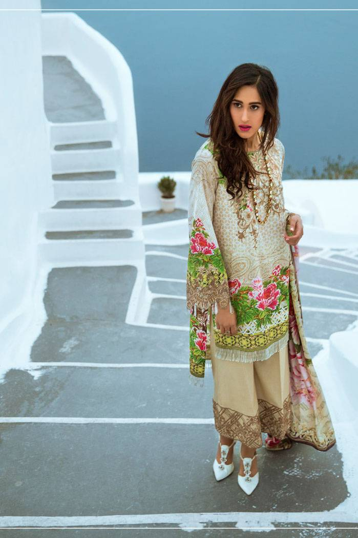 Honey Waqar By ZS Textile Embroidered Lawn Unstitched 3 Piece Suit HW17L 10A