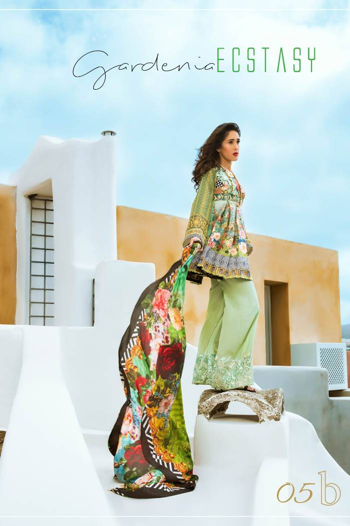 Honey Waqar By ZS Textile Embroidered Lawn Unstitched 3 Piece Suit HW17L 5B